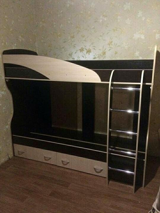 Детская кровать чердак «Мийа» венге   720x540